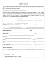 Bill Of Sale Form Arizona Sports Camp Medical Release Form ...
