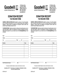 Goodwill Donation Receipt - Fill Online, Printable ...