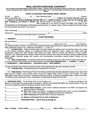 Real Estate Purchase Agreement Form Utah | Best Resumes Curiculum ...