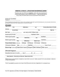 Arizona Marriage Absentee Application - Fill Online ...