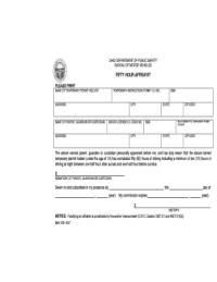 Bill Of Sale Form Ohio Fifty Hour Affidavit Templates ...