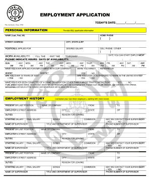 Application For Employment Printable Business Forms Fillable Online Employment Application Golds Gym Fax
