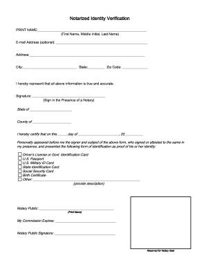 notarization form