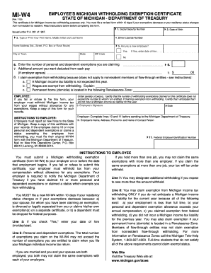 Bill Of Sale Form Michigan Form Mi-w4 Templates - Fillable & Printable Samples for PDF, Word ...
