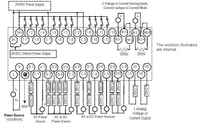 24vdc relay wiring diagram with 120v contact