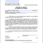 Affidavit of Validity of Power of Attorney
