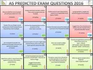 AS Predicted Exam Questions 2016 @NorthKestevenPE