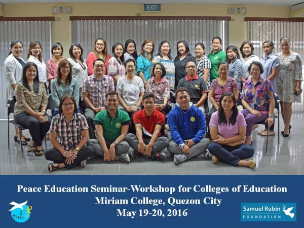 Peace Education Training for Philippine Colleges of Education