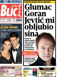 Blic Oct 22 page 1