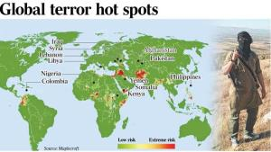 The Australian global terror hotspots