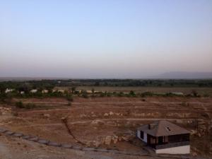 A view towards the Afghan border, which is 20 miles away, from Chiluchor Chashma, Tajikistan.  Fears of ISIS in the region were compounded when Tajikistan's security chief, Gumurod Halimov, disappeared in April and joined ISIS in Syria.  PC: Eddie Grove