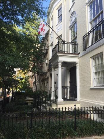 The Embassy of Georgia in DC. PC: Eddie Grove