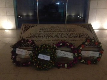 The tomb of Yasser Arafat in Ramallah.  While many Palestinians revere him, he is widely blamed for supporting the terrorism of the Second Intifada and for running a corrupt PA bureaucracy.  PC: Eddie Grove