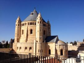 Dormition Abbey in Jerusalem has been targeted by vandals in Price Tag Attacks.  PC: Eddie Grove