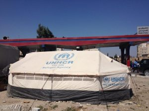 A refugee tent in Irbid, Jordan. PC: Eddie Grove