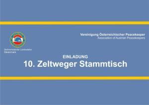 10. Zeltweger Peacekeeper Stammstisch @ Cafeteria Fliegerhorst Hinterstoisser   Zeltweg   Steiermark   Österreich