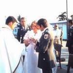Oberst Fritz als Beistand bei der Hochzeit von Günter Spiel in Zypern am 6.Mai 1977.