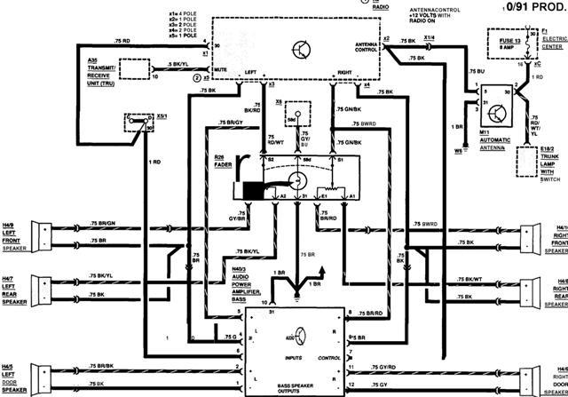 1993 mercedes 300e radio wiring diagram on fader radio diagram