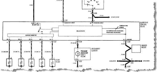 Mercedes Glow Plug Relay Wiring Diagram Mercedes glow plug wiring
