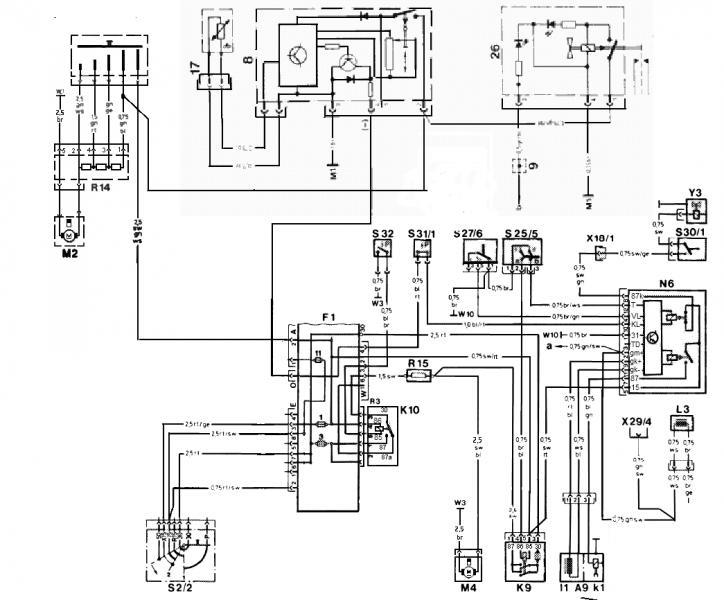 mercedes 190d schema cablage