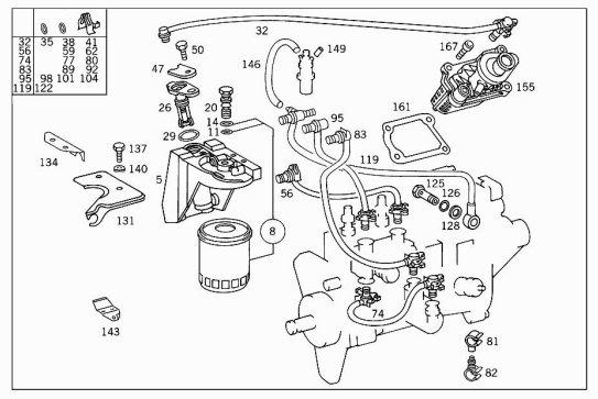 mercedes vito fuel filter diagram
