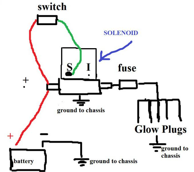 wiring manual glow plug switch