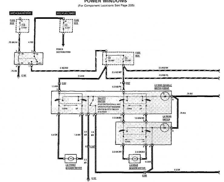 mercedes 300d window switch wiring diagram