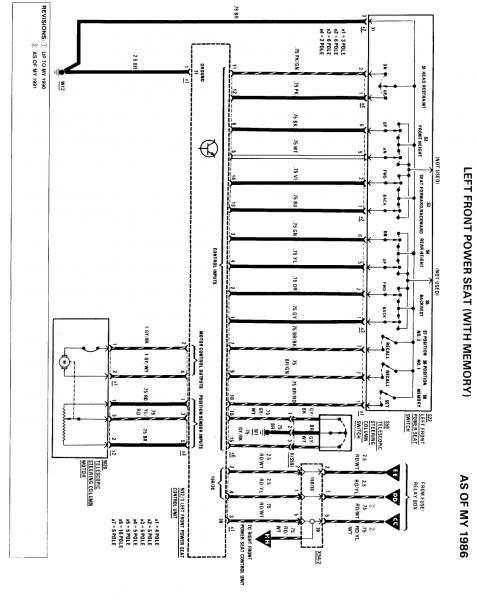Power Seat Pinout Diagrams Needed w126 - PeachParts Mercedes-Benz Forum