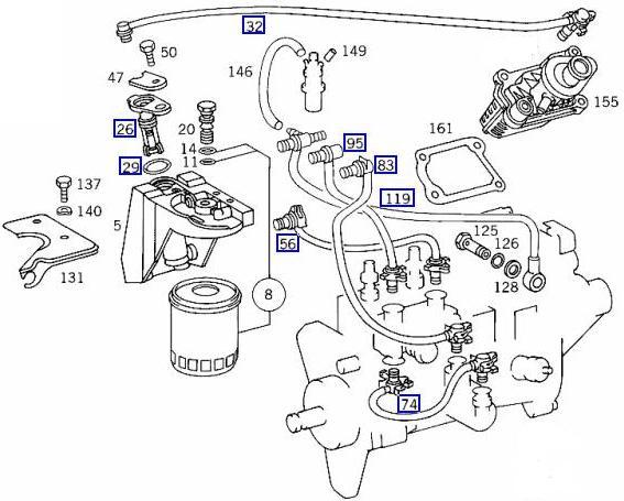 240d fuel filter change