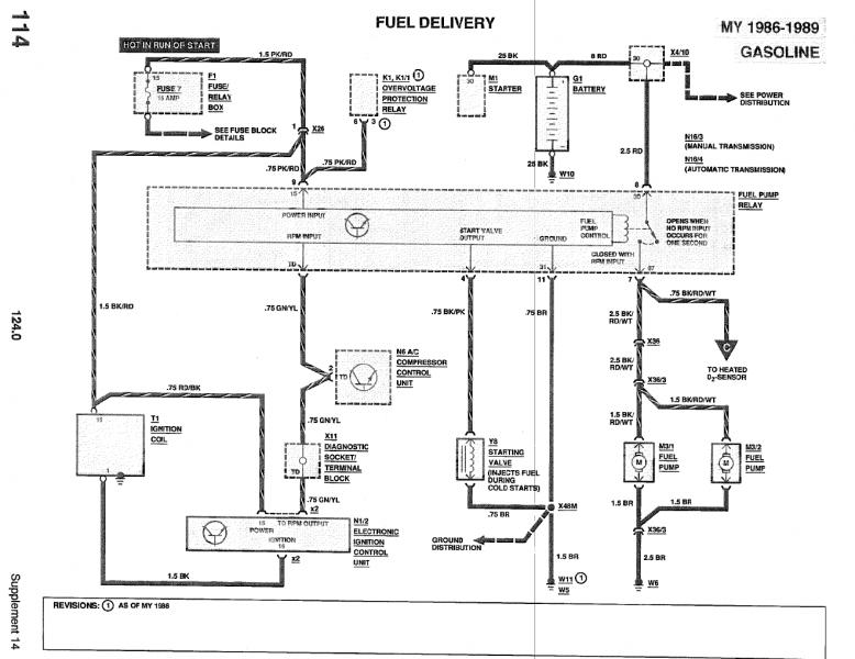 1988 mercedes benz 190e fuse box diagram