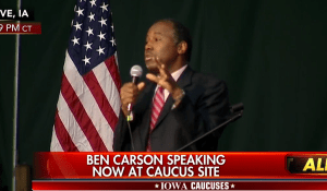 Ben Carson at the Iowa Caucuses