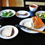 40 Minute Bread, Apple & Fennel Salad and Tomato Soup