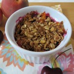Peach and Cherry Crisp