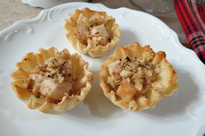 Pear and Cream Cheese Fillo Cups