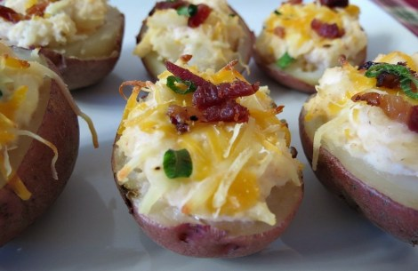 Loaded Potato Skins #HolidayDetox