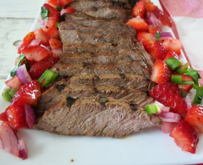 Grilled Top Sirloin with Strawberry Salsa