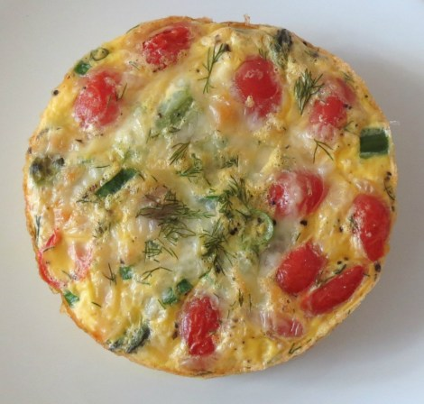 Asparagus and Tomato Egg Bake
