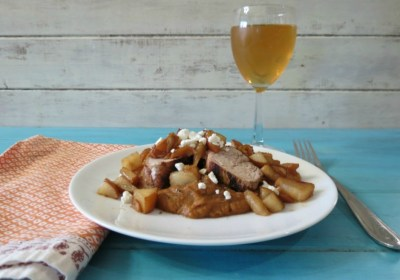 Pork Tenderloin with Sauteed Pears and Sweet Potatoes