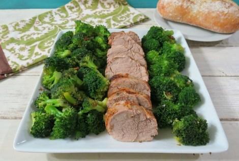 Herb Roasted Pork Tenderloin with Steamed Broccoli