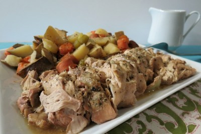 Italian Pork tenderloin with Potatoes & Carrots - Crockpot