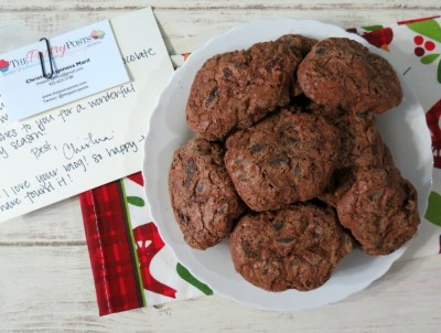 Double Chocolate Cookies with Cherries