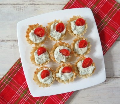 Herb Goat Cheese and Tomato Cups