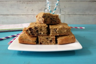 Peanut Butter Chocolate Chip Quinoa Snack Cake