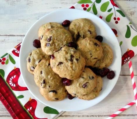 Cranberry Orange Chocolate Pistachio Cookies