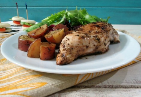 Balsamic Glazed Chicken and Roasted Potatoes