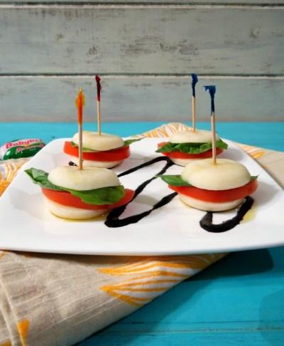 Mini Cheesy Caprese Sandwich