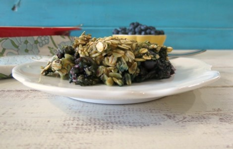 Power it Up Blueberry Vanilla Baked Oatmeal