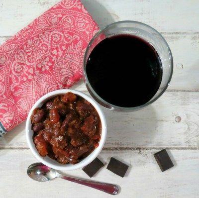 Hearty Burgundy and Chocolate Chili