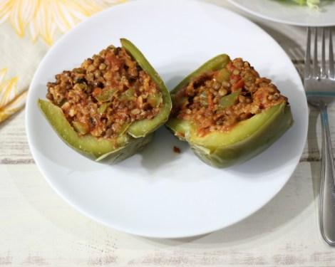 Lentil Stuffed Peppers