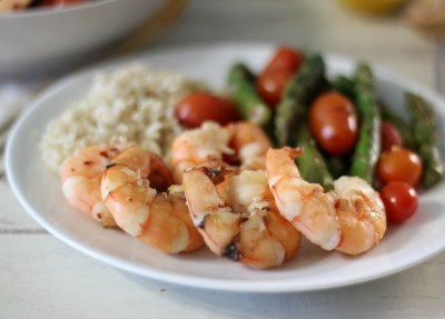 Shrimp with Asparagus and Tomatoes